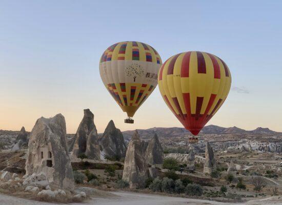 enjoy a hot air balloon ride in Cappadocia during your tailor Made Turkey tour