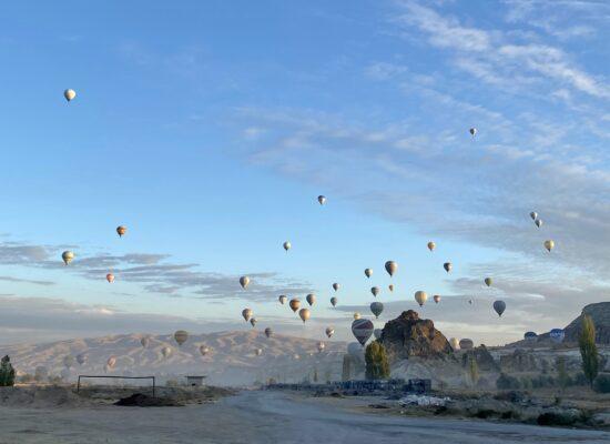 Colorful hot air balloons in Cappadocia